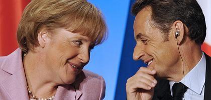 Merkel, Sarkozy beim Gipfeltreffen: Gute Mine zu bösem Spiel