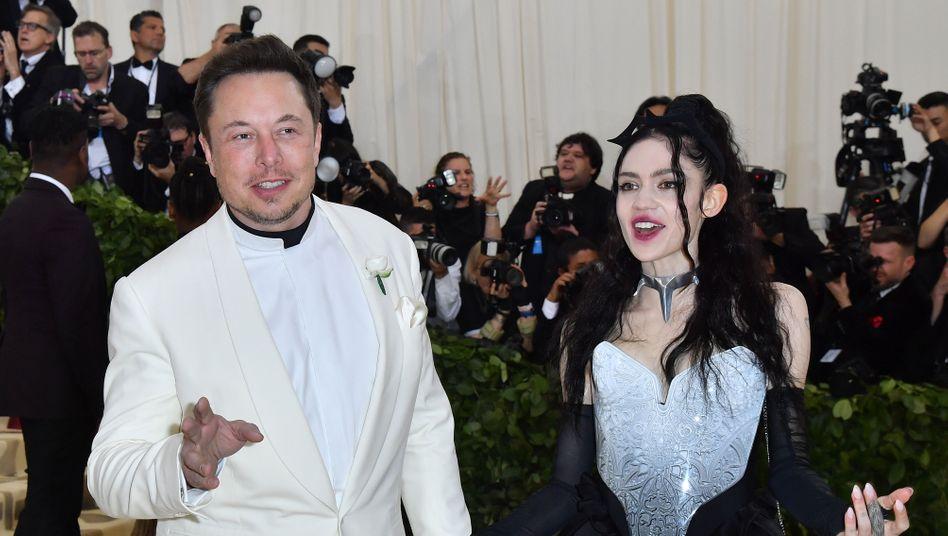Musikerin Grimes und Elon Musk 2018 in New York