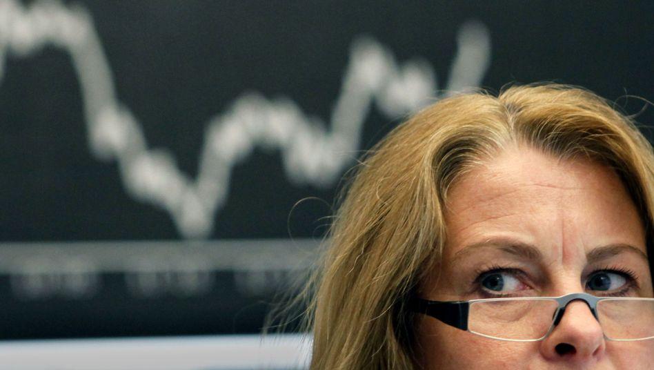 Sorgenvoller Blick: Schätzen die Bundesbürger die Risiken der Börse falsch ein?
