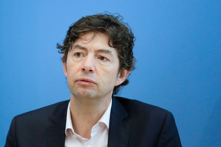 Christian Drosten auf einer Pressekonferenz im Oktober 2020