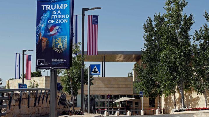 Das US-Konsulat und die künftige US-Botschaft in Jerusalem