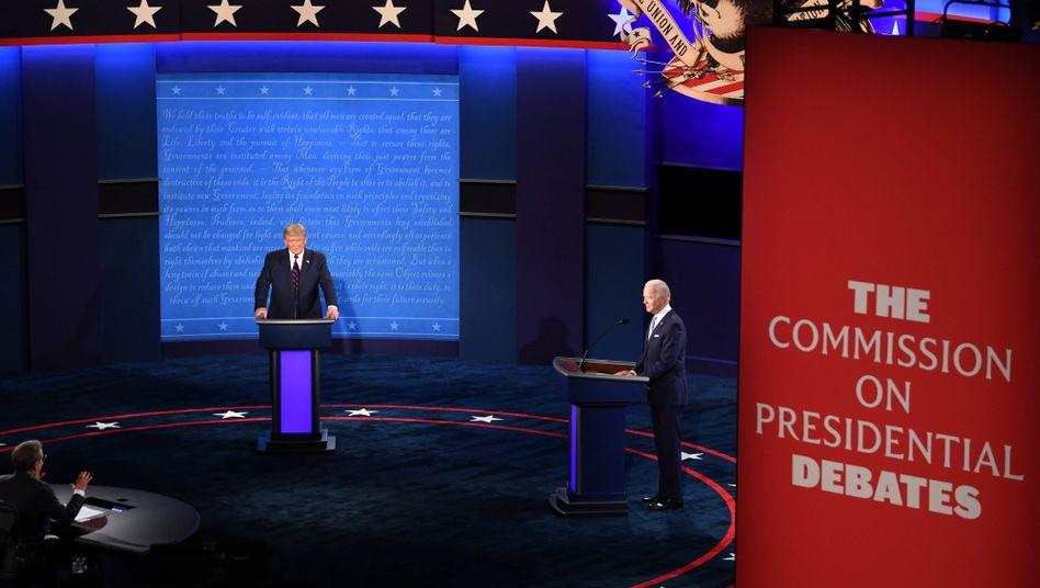 Das TV-Duell zwischen Donald Trump und Joe Biden