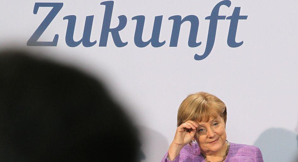 Kanzlerin Merkel bei Buchveröffentlichung: Frage, wovon Deutschland in Zukunft leben soll