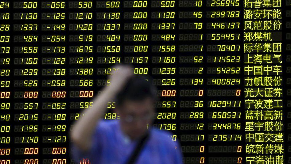 Kurstafel in Shanghai: Keine Trendwende in Sicht