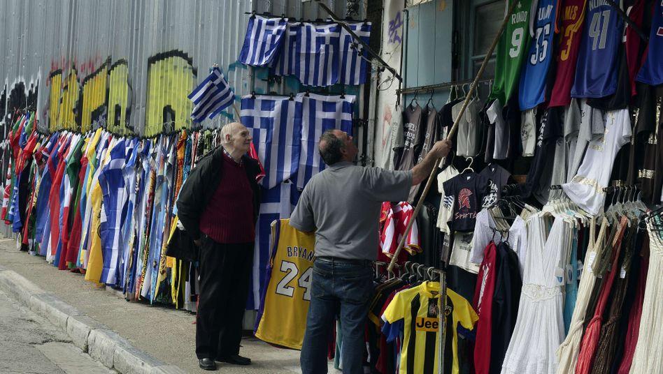 Straßenszene in Athen: Der Regierung geht das Geld aus