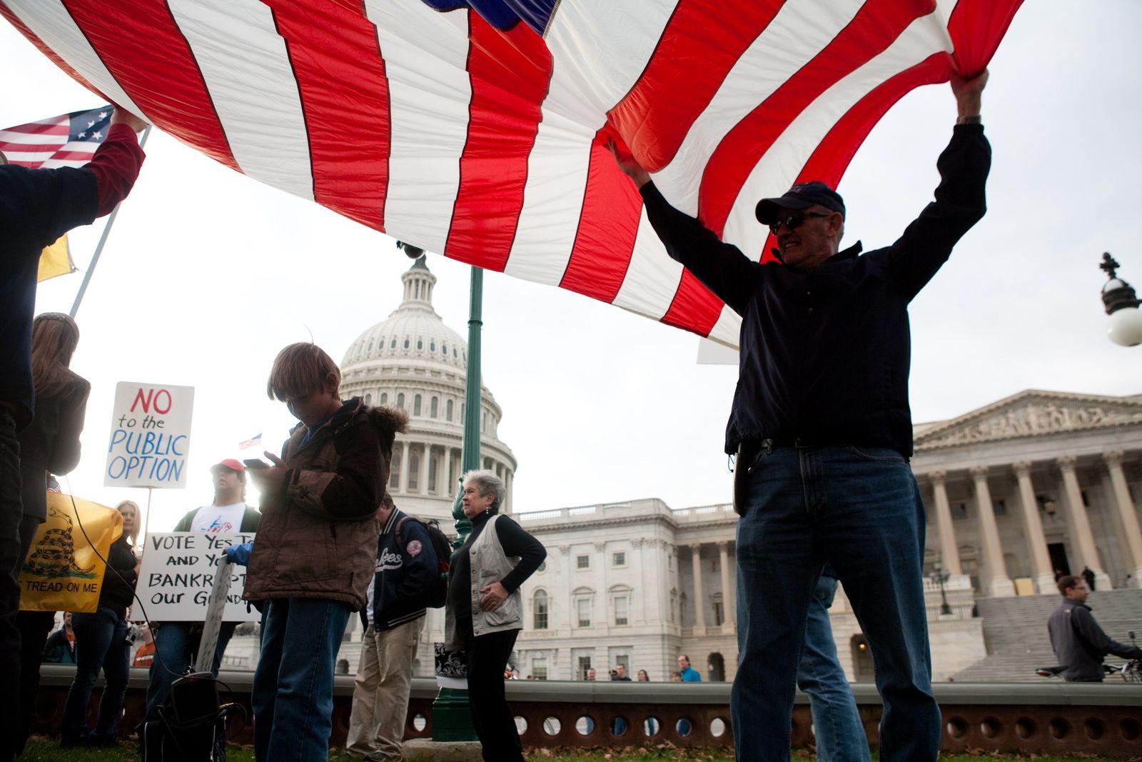 Demo gegen US Gesundheitsreform