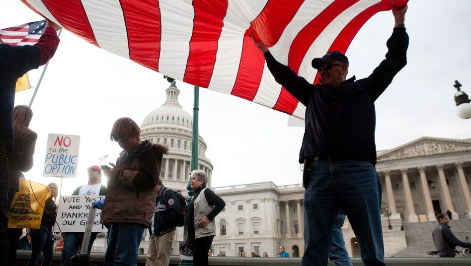 Demonstranten vor dem US-Kongress: Traditionelle Abneigung