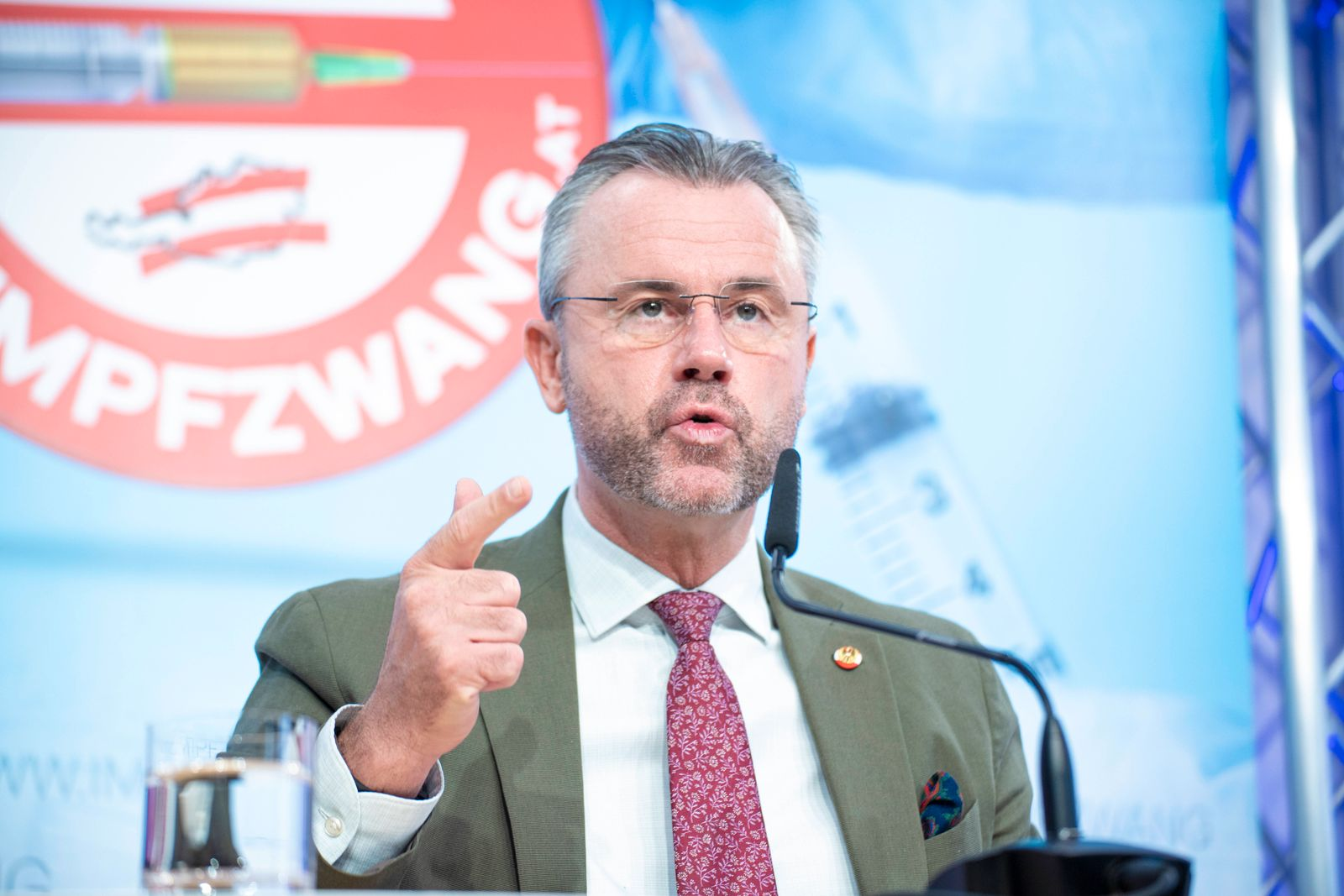 FPÖ Presskonferenz: Aktuelle Corona-Politik mit Schwerpunkt Schule *** FPOE press conference: Current Corona policy wit