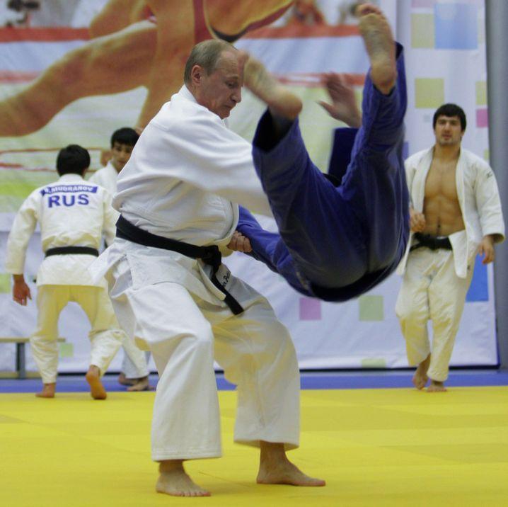 Putin beim Judo-Training (2010)