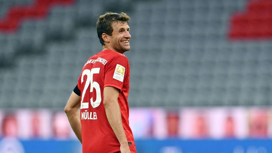 Bayern-Stürmer Thomas Müller: 17 Torvorlagen in einer Saison