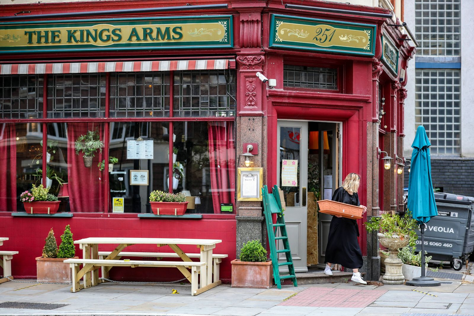 Pubs reopen today welcoming back customers for the first time after the COVID-19 lockdown in London, Saturday, July 4,