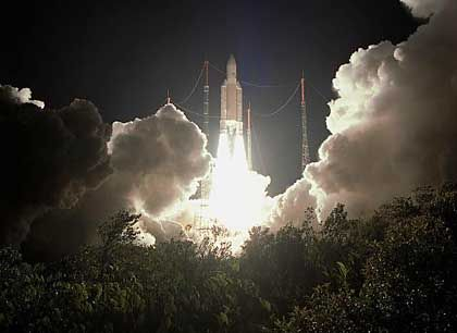 Ariane-Start (Archibild): Sechsfache Mission