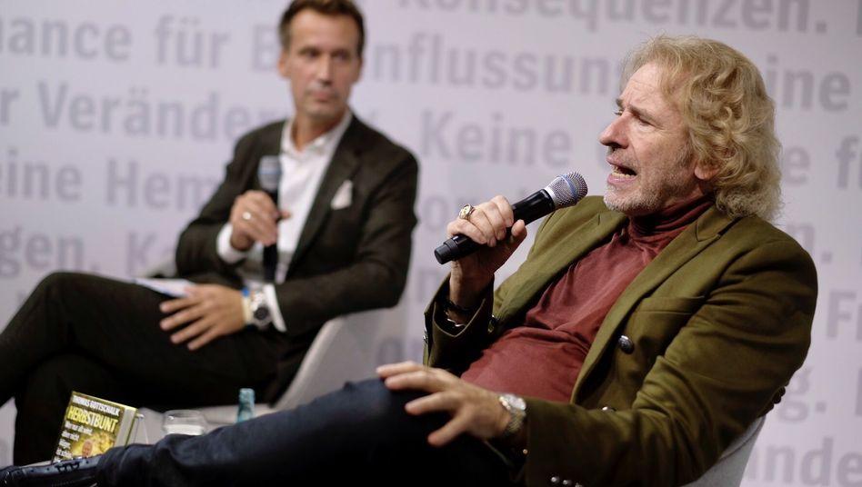 """Thomas Gottschalk im Gespräch mit Volker Weidermann bei der Frankfurter Buchmesse: """"Eine Alternative gab es ja nicht"""""""