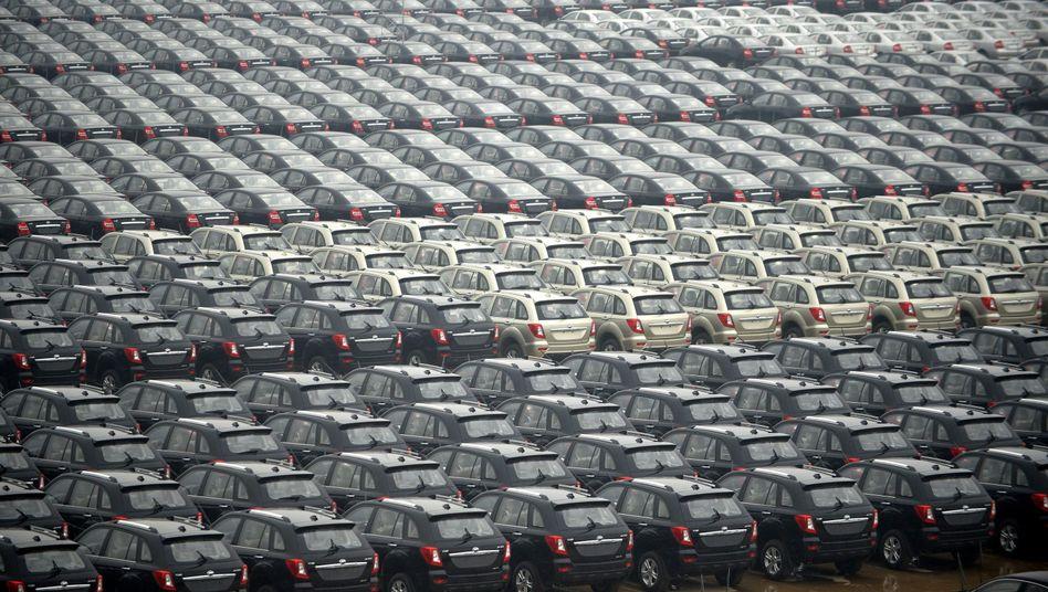Neuwagen des chinesischen Herstellers Lifan