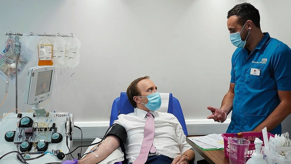 Plasmaspender, Pfleger in London:Schlagkräftige Alternative