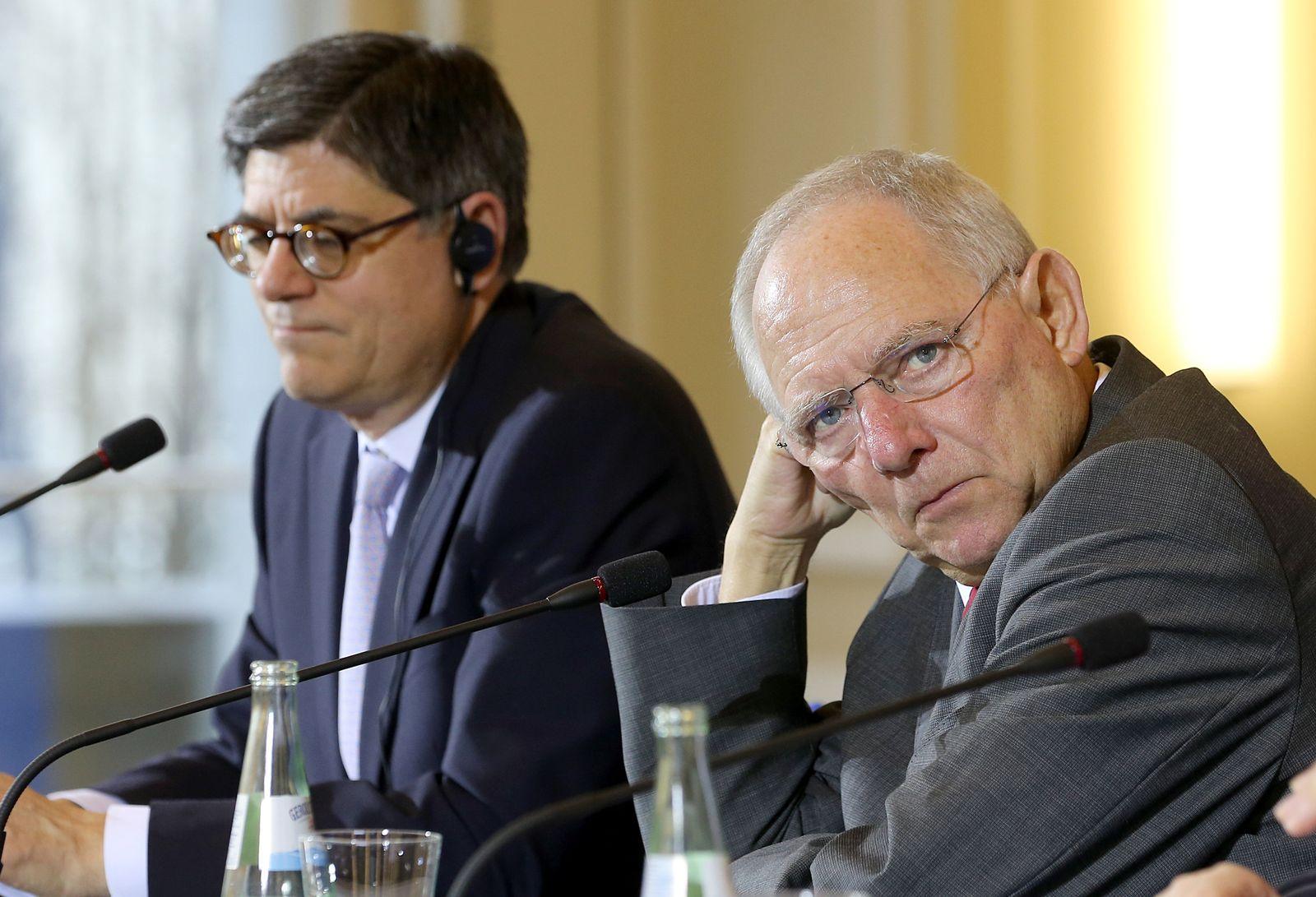 Schäuble empfängt US-Finanzminister Lew