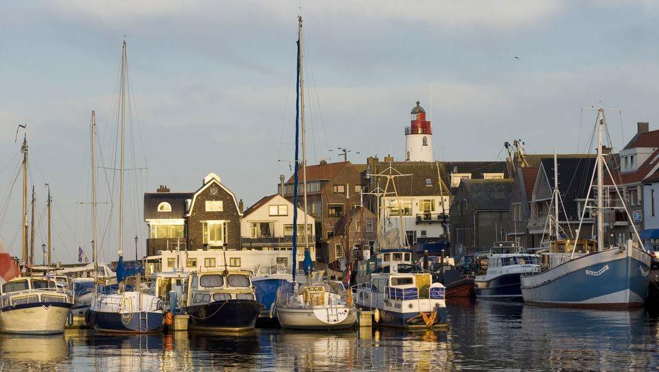 Hafen von Urk in den Niederlanden