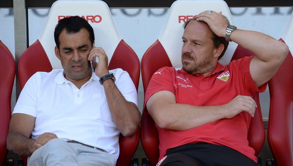 Sportdirektor Dutt, links, Trainer Zorniger: Zwei Faktoren