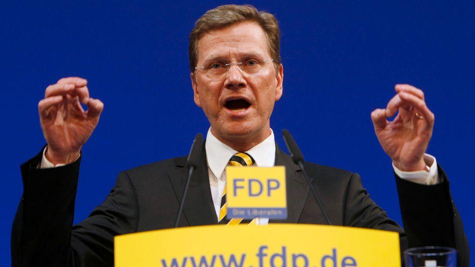 """FDP-Chef Westerwelle: """"Wer arbeitet, muss mehr haben als derjenige, der nicht arbeitet"""""""