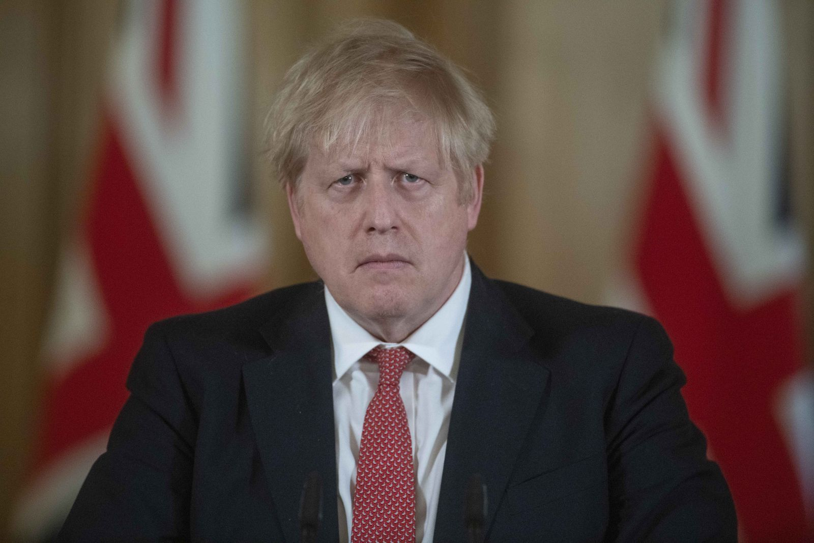UK Prime Minister Boris Johnson Tests Positive For Coronavirus Covid-19 Prime Minister's Daily Press Conference Announces Bar Closures And Salary Aid