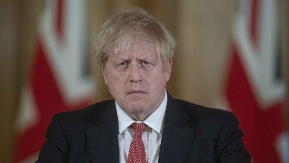 Boris Johnson (Archivbild): Erhöhte Temperatur, Husten
