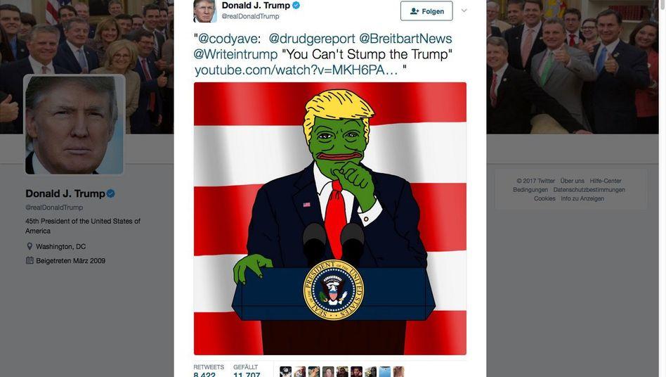 Screenshot eines Trump-Tweets