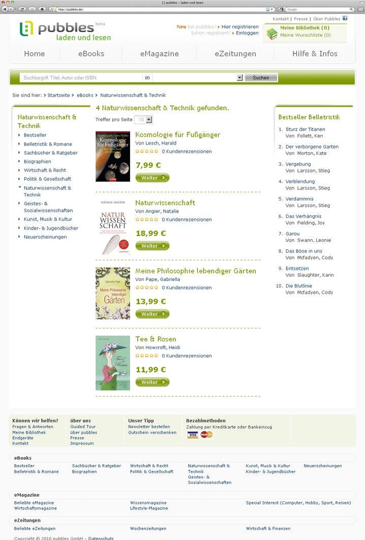 Klassischer Buchshop: 3000 Titel im Angebot - für Deutschland ist das schon viel, im internationalen Vergleich nicht