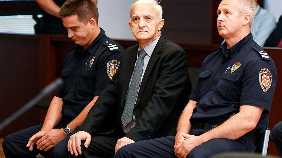 Dragan Vasiljkovic bei der Urteilsverkündung in Split.