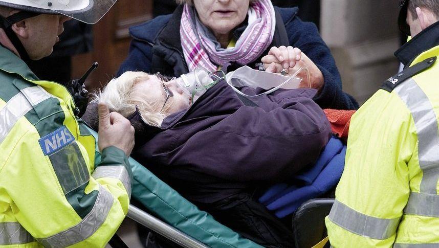 Rettungsübung in London im Februar