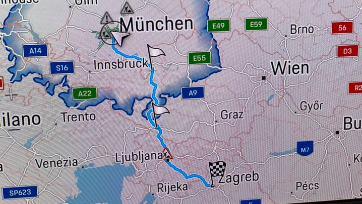 Elektrisch von München nach Zagreb im Porsche Taycan