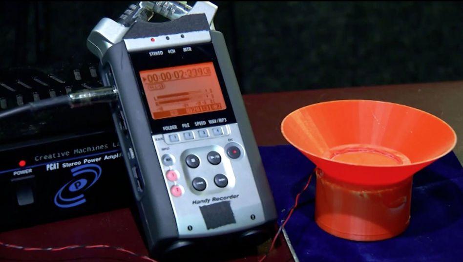 Lautsprecher und Abspielgerät: Alle Lautsprecher-Bauteile stammen aus einem 3-D-Drucker