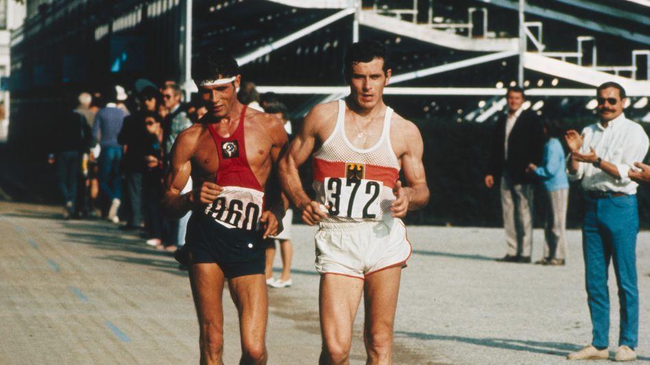 Bernd Kannenberg auf dem Weg zum Olympiasieg in München