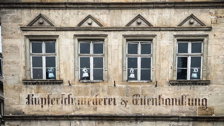 Hier nahm die »Pandamie« ihren Anfang: Das Schlimbach-Haus am Marktplatz von Ebern