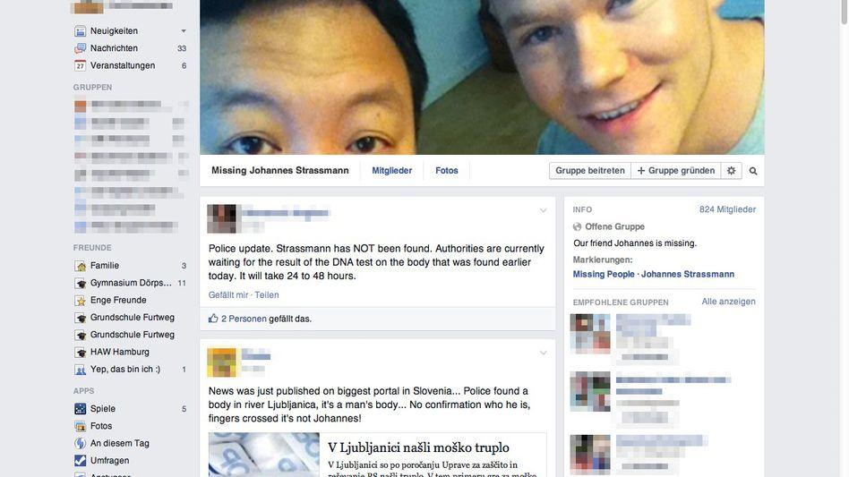 Facebook-Seite zum Verschwinden Strassmanns: Auf der Suche nach sich selbst