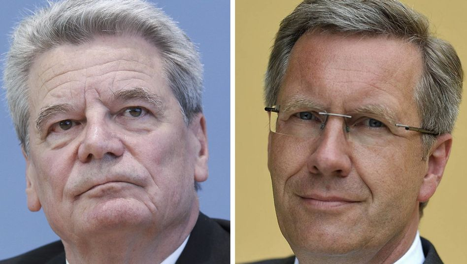 Who would make the better president? Anti-communist human rights activist Joachim Gauck (left) is standing against career politician Christian Wulff (right), who was nominated by Chancellor Angela Merkel.