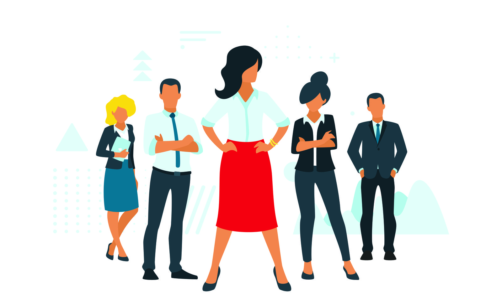 business concept with people silhouettes
