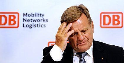 Hartmut Mehdorn (im August 2008): Wie viel wusste der Bahnchef von den Umtrieben seiner internen Revision?
