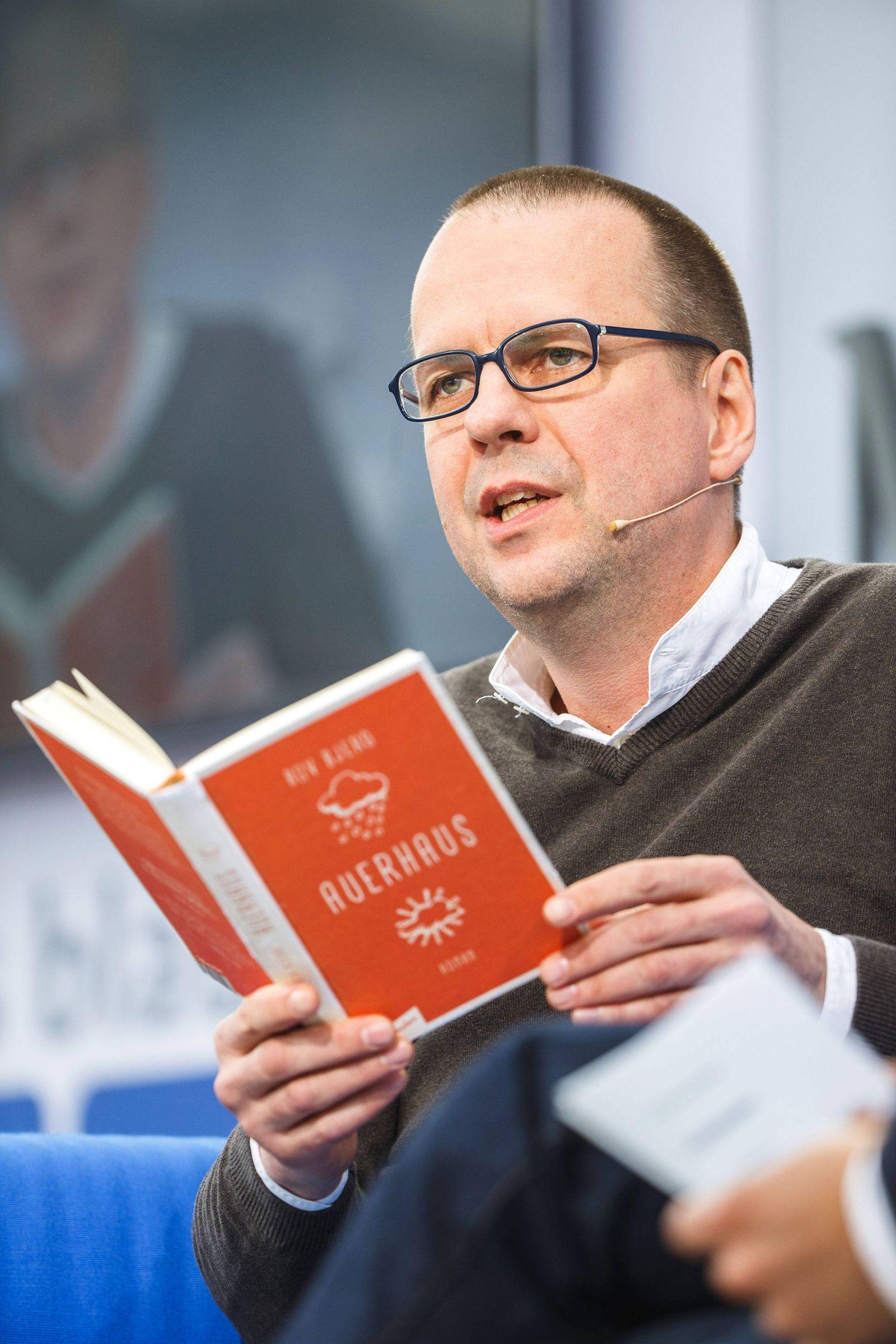 EINMALIGE VERWENDUNG Autor Bov Bjerg/ Leipziger Buchmesse 2016