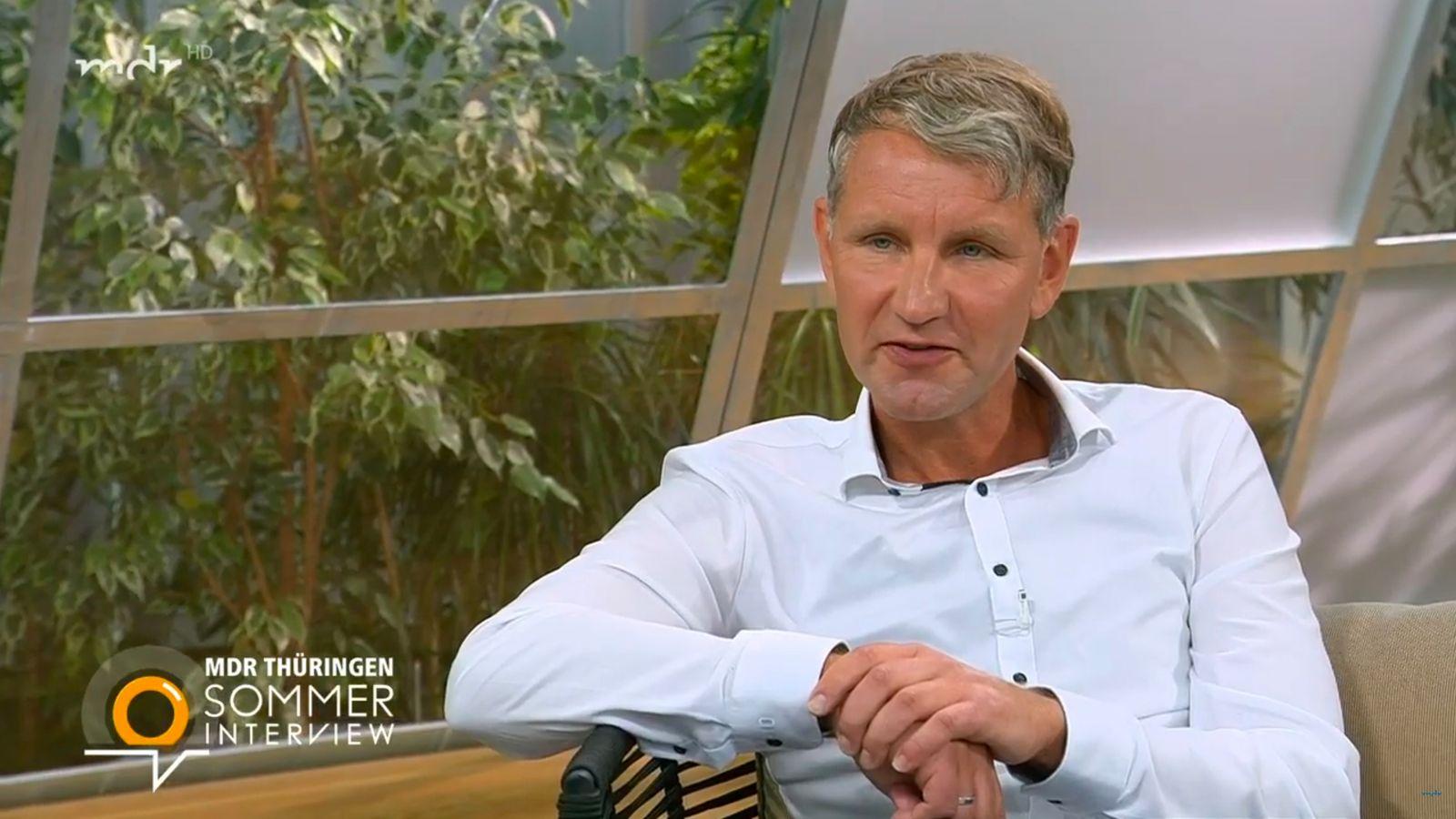 Björn Höcke (AFD) im MDR Thüringen-Sommerinterview 2020 SCREENSHOT