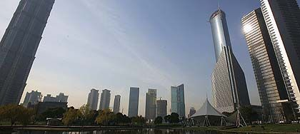 Boom City Shanghai: President Hu Jintao and his Communist Party are experiencing explosive success across the country.