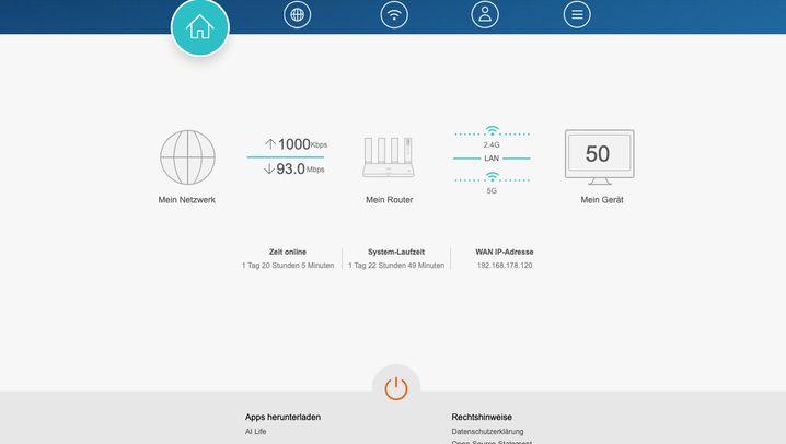 Huaweis Browser-Benutzeroberfläche