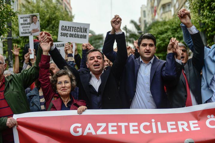 Demo für die Pressefreiheit in Istanbul (im Oktober 2017)