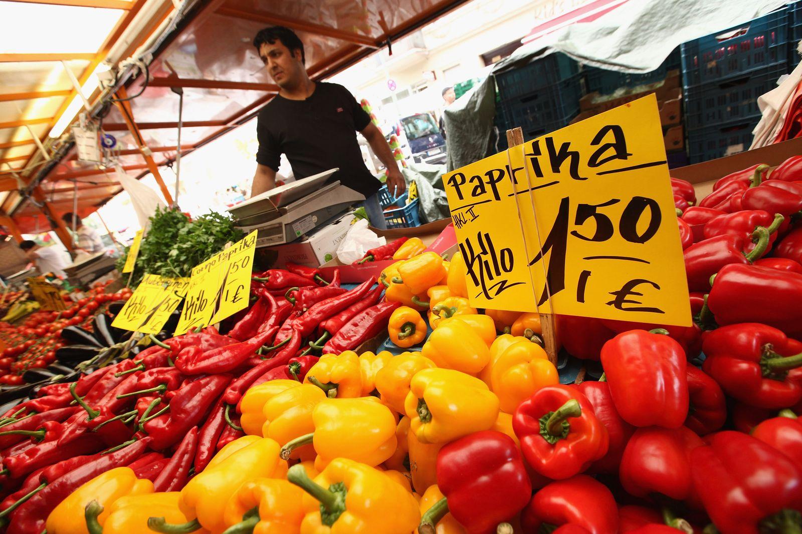 Lebensmittel / Supermarkt / Preis / preisschilder / Preisschild / Preise / Inflation