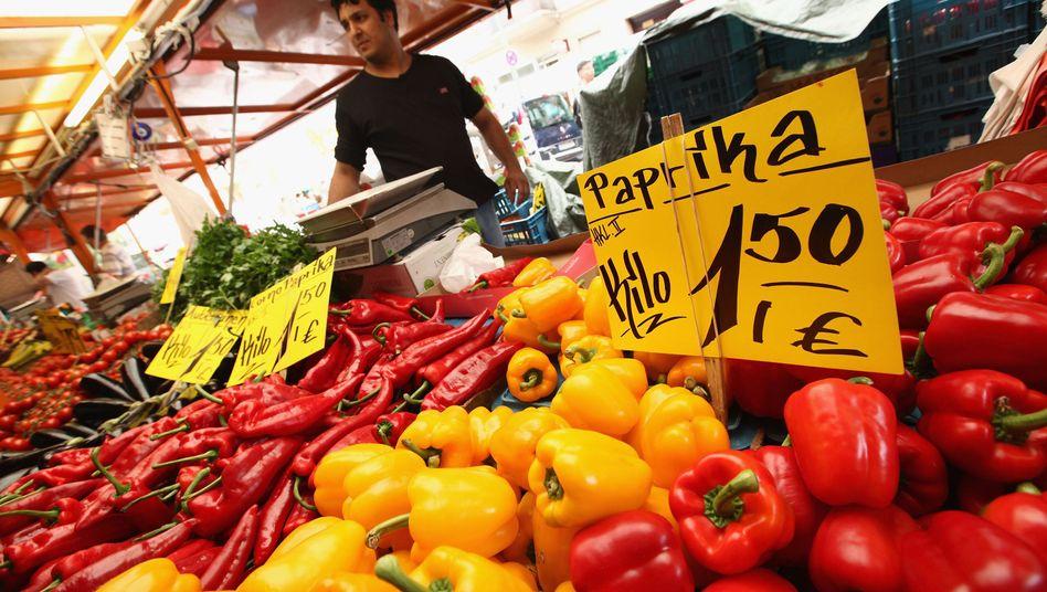 Gemüsehändler in Berlin: Die Inflationsangst sitzt tief