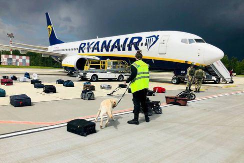 Ryanair-Maschine in Minsk