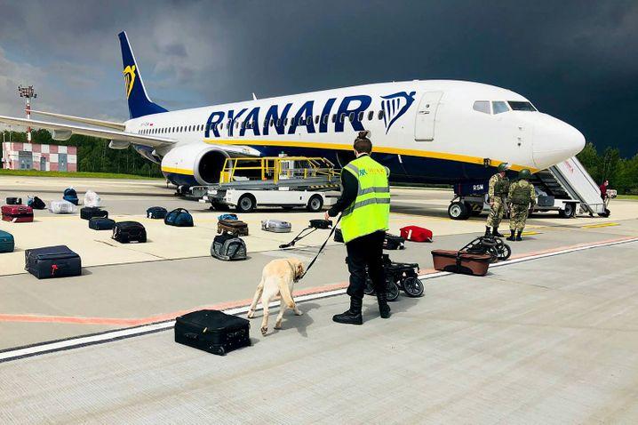 Der zur Landung gezwungene Ryanair-Jet in Minsk