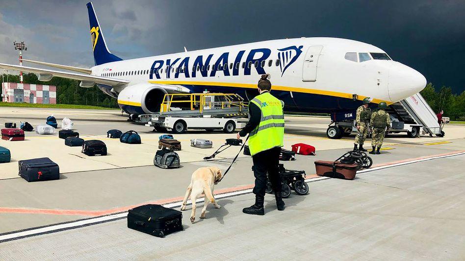 Ryanair-Maschine in Minsk: Linienflug mit 171 Passagieren an Bord gekapert