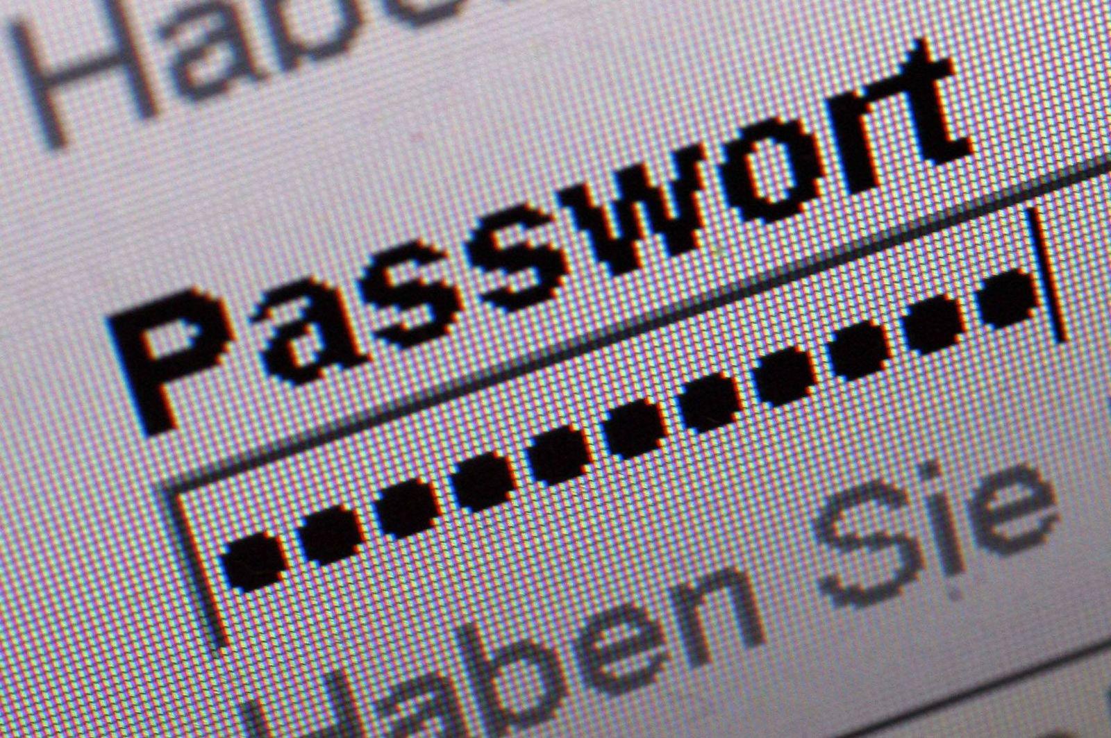 NICHT VERWENDEN SYMBOLBILD Passwort / Sicherheit