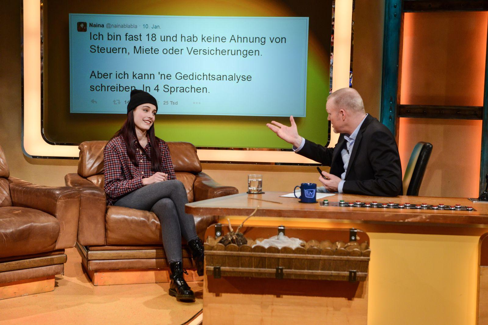 EINMALIGE VERWENDUNG TV total / Sendung vom 15.01.2015