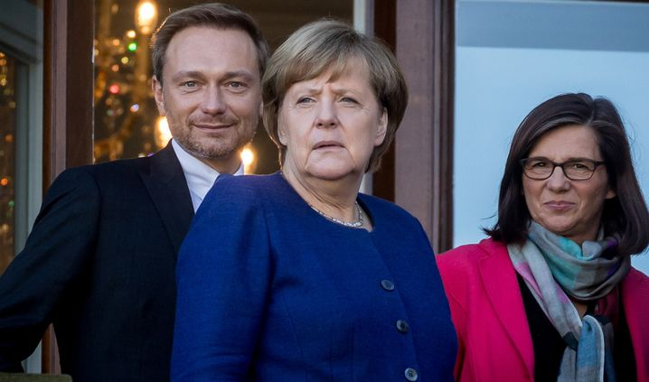 Angela Merkel, Christian Lindner, Katrin Göring-Eckardt